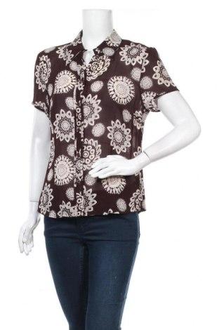 Γυναικείο πουκάμισο Yorn, Μέγεθος L, Χρώμα Καφέ, Βισκόζη, Τιμή 5,52€