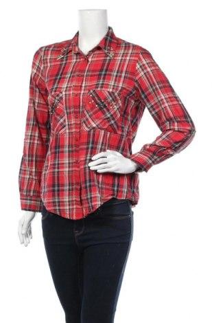 Дамска риза Zara, Размер L, Цвят Червен, Памук, Цена 6,83лв.