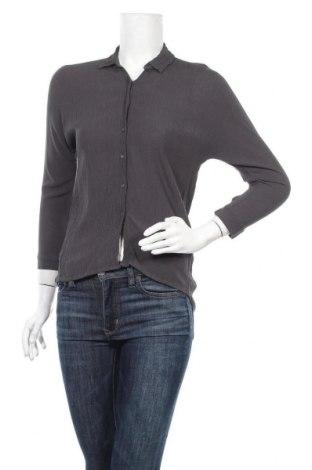 Дамска риза Zara, Размер XS, Цвят Сив, Вискоза, Цена 7,09лв.