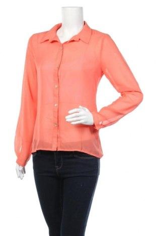 Дамска риза Zebra, Размер S, Цвят Оранжев, Полиестер, Цена 5,53лв.