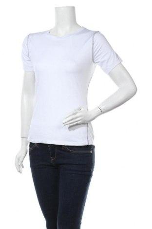 Дамска тениска, Размер L, Цвят Бял, 85% полиестер, 15% еластан, Цена 4,20лв.
