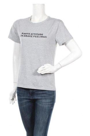Дамска тениска, Размер S, Цвят Сив, 70% памук, 30% полиестер, Цена 9,66лв.