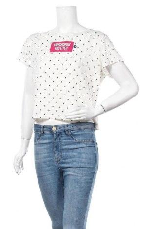 Дамска тениска Abercrombie & Fitch, Размер XL, Цвят Бял, 60% памук, 40% полиестер, Цена 29,50лв.