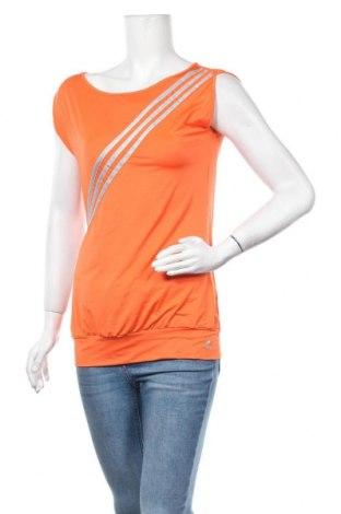Γυναικείο t-shirt Adidas, Μέγεθος M, Χρώμα Πορτοκαλί, 83% πολυεστέρας, 17% ελαστάνη, Τιμή 6,76€