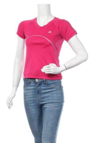 Γυναικείο t-shirt Adidas, Μέγεθος XS, Χρώμα Ρόζ , Τιμή 6,72€