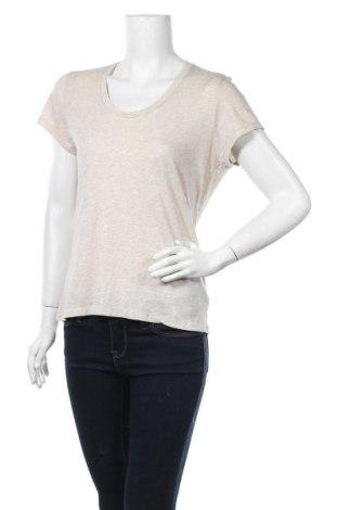 Дамска тениска American Vintage, Размер S, Цвят Бежов, 52% памук, 48% вискоза, Цена 39,00лв.