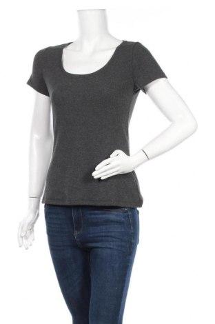 Дамска тениска Anna Field, Размер M, Цвят Сив, 67% памук, 28% полиестер, 5% еластан, Цена 14,00лв.