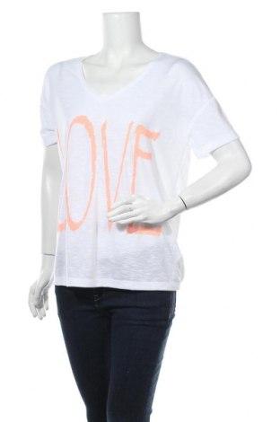 Дамска тениска Bench, Размер L, Цвят Бял, 65% полиестер, 35% памук, Цена 29,25лв.