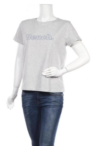 Дамска тениска Bench, Размер L, Цвят Сив, Памук, Цена 27,00лв.