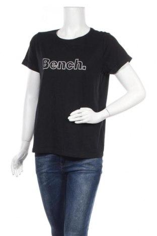 Дамска тениска Bench, Размер L, Цвят Черен, Памук, Цена 27,00лв.