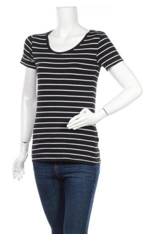 Дамска тениска C&A, Размер S, Цвят Черен, 95% памук, 5% еластан, Цена 9,45лв.