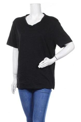 Дамска тениска C&A, Размер L, Цвят Черен, Памук, Цена 9,82лв.