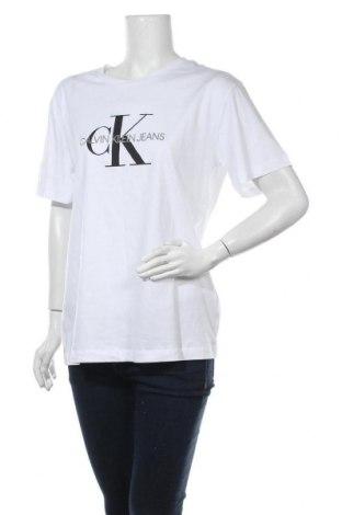 Дамска тениска Calvin Klein Jeans, Размер XXL, Цвят Бял, Памук, Цена 54,00лв.