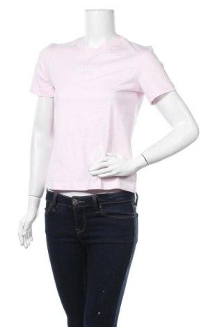 Дамска тениска Calvin Klein Jeans, Размер S, Цвят Розов, Памук, Цена 55,50лв.