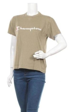 Γυναικείο t-shirt Champion, Μέγεθος S, Χρώμα Καφέ, Βαμβάκι, Τιμή 14,67€