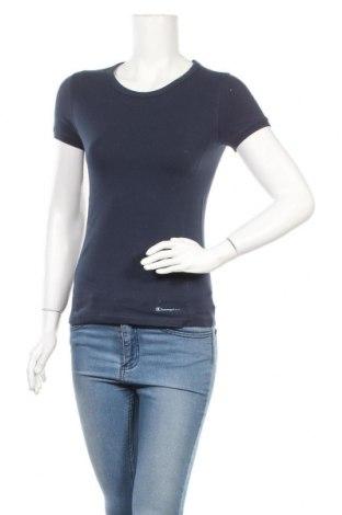Γυναικείο t-shirt Champion, Μέγεθος M, Χρώμα Μπλέ, Βαμβάκι, Τιμή 14,67€