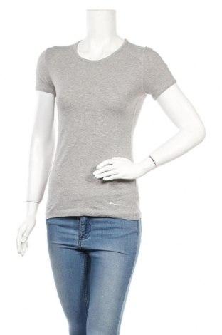 Γυναικείο t-shirt Champion, Μέγεθος M, Χρώμα Γκρί, 88% βαμβάκι, 12% ελαστάνη, Τιμή 14,67€