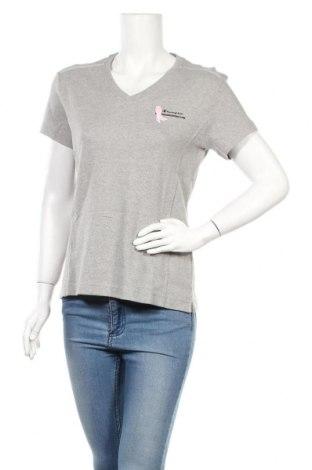 Γυναικείο t-shirt Champion, Μέγεθος L, Χρώμα Γκρί, Βαμβάκι, Τιμή 14,67€