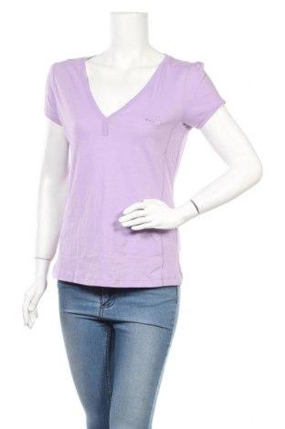 Γυναικείο t-shirt Champion, Μέγεθος L, Χρώμα Βιολετί, Βαμβάκι, Τιμή 14,67€