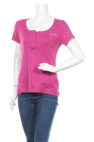 Γυναικείο t-shirt Champion, Μέγεθος XL, Χρώμα Ρόζ , Βαμβάκι, Τιμή 14,67€