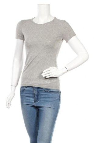 Γυναικείο t-shirt Champion, Μέγεθος S, Χρώμα Γκρί, 88% βαμβάκι, 12% ελαστάνη, Τιμή 14,67€