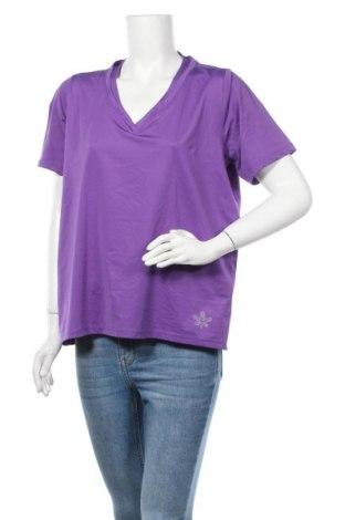 Дамска тениска Crivit, Размер XL, Цвят Лилав, 85% полиестер, 15% еластан, Цена 9,82лв.