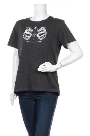 Дамска тениска Even&Odd, Размер XL, Цвят Сив, Памук, Цена 21,00лв.