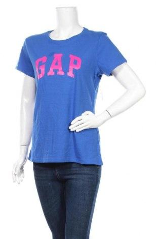 Дамска тениска Gap, Размер L, Цвят Син, Памук, Цена 31,50лв.