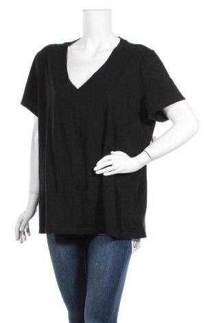 Дамска тениска Gap, Размер XXL, Цвят Черен, Памук, Цена 24,00лв.