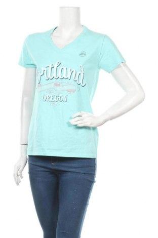 Дамска тениска Gildan, Размер M, Цвят Син, Памук, Цена 12,29лв.