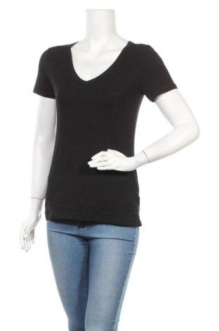 Дамска тениска H&M, Размер M, Цвят Черен, 95% памук, 5% еластан, Цена 8,93лв.