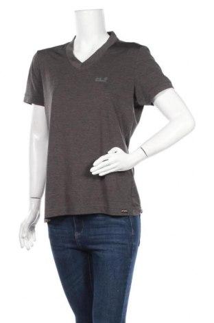Дамска тениска Jack Wolfskin, Размер L, Цвят Сив, Полиестер, Цена 20,79лв.