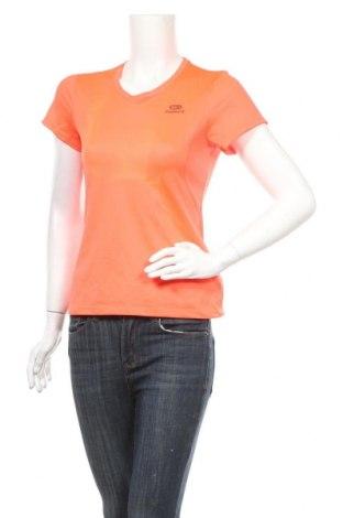 Дамска тениска Kalenji, Размер S, Цвят Оранжев, Полиестер, Цена 16,80лв.
