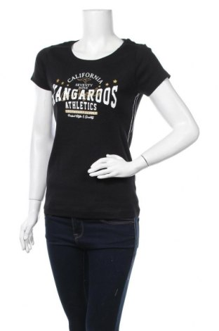 Дамска тениска Kangaroos, Размер L, Цвят Черен, Памук, Цена 26,28лв.