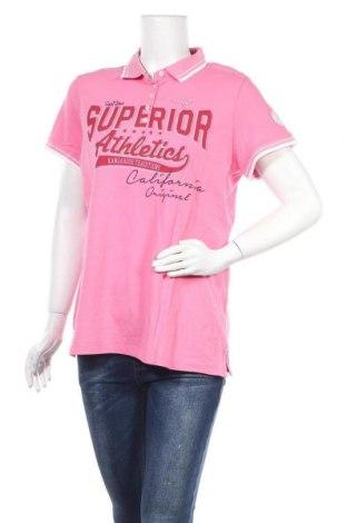 Дамска тениска Kangaroos, Размер XL, Цвят Розов, 95% памук, 5% еластан, Цена 28,47лв.