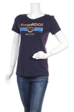 Дамска тениска Kangaroos, Размер L, Цвят Син, Памук, Цена 28,47лв.