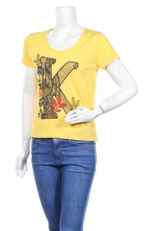 Дамска тениска Kaporal, Размер XS, Цвят Жълт, Вискоза, Цена 13,78лв.