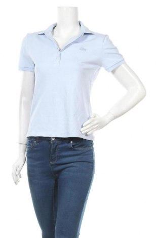 Дамска тениска Lacoste, Размер M, Цвят Син, 94% памук, 6% еластан, Цена 59,25лв.