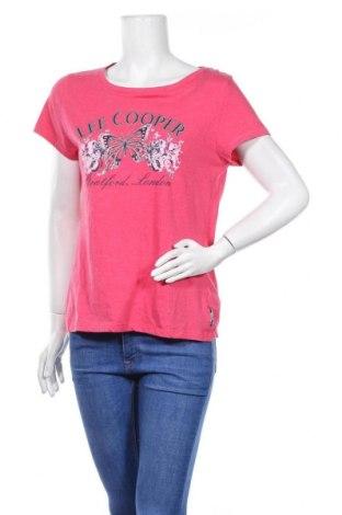Γυναικείο t-shirt Lee Cooper, Μέγεθος L, Χρώμα Ρόζ , 60% βαμβάκι, 40% πολυεστέρας, Τιμή 10,21€