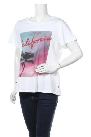 Дамска тениска Levi's, Размер XL, Цвят Бял, Памук, Цена 44,25лв.