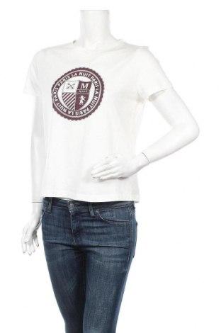 Дамска тениска Maje, Размер M, Цвят Бял, 50% памук, 50% модал, Цена 76,05лв.