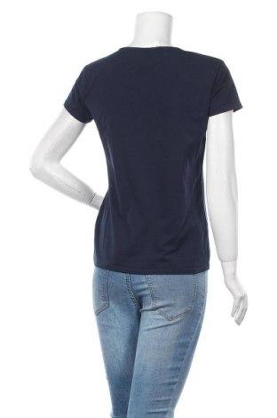 Дамска тениска Massimo Dutti, Размер XL, Цвят Син, 92% памук, 8% еластан, Цена 23,22лв.