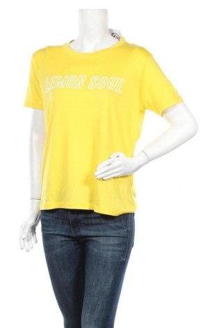 Дамска тениска Mbym, Размер L, Цвят Жълт, Лиосел, Цена 16,50лв.