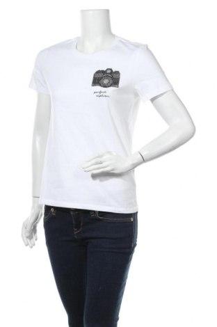 Дамска тениска ONLY, Размер M, Цвят Бял, Памук, Цена 25,50лв.