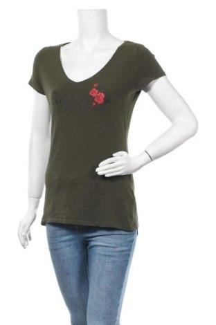Γυναικείο t-shirt Orsay, Μέγεθος L, Χρώμα Πράσινο, 95% βαμβάκι, 5% ελαστάνη, Τιμή 9,35€
