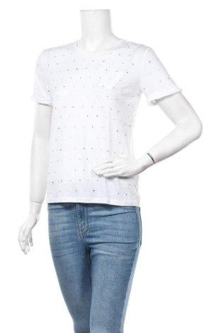 Дамска тениска Patrizia Pepe, Размер XS, Цвят Бял, 67% лиосел, 33% памук, Цена 55,76лв.