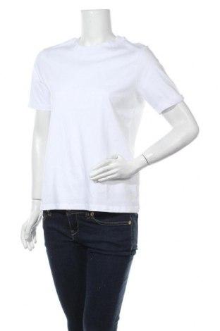 Дамска тениска Pieces, Размер M, Цвят Бял, Памук, Цена 25,50лв.