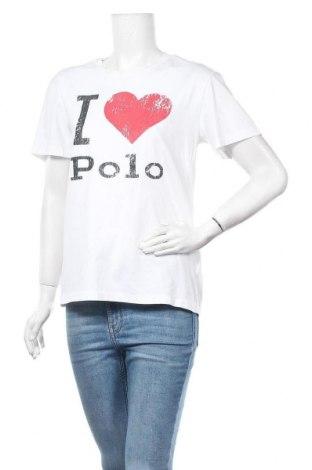 Γυναικείο t-shirt Polo By Ralph Lauren, Μέγεθος S, Χρώμα Λευκό, Βαμβάκι, Τιμή 25,13€