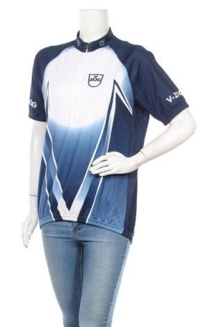 Γυναικείο t-shirt Santini, Μέγεθος XXL, Χρώμα Μπλέ, 60% πολυεστέρας, 40% πολυαμίδη, Τιμή 4,42€