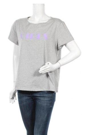 Дамска тениска Second Script, Размер XL, Цвят Сив, Памук, Цена 21,17лв.
